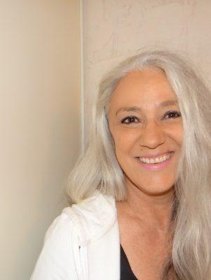 mannequin cheveux gris