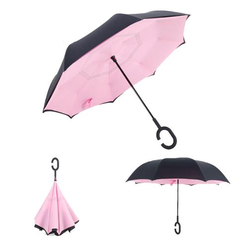 parapluie inversé rose