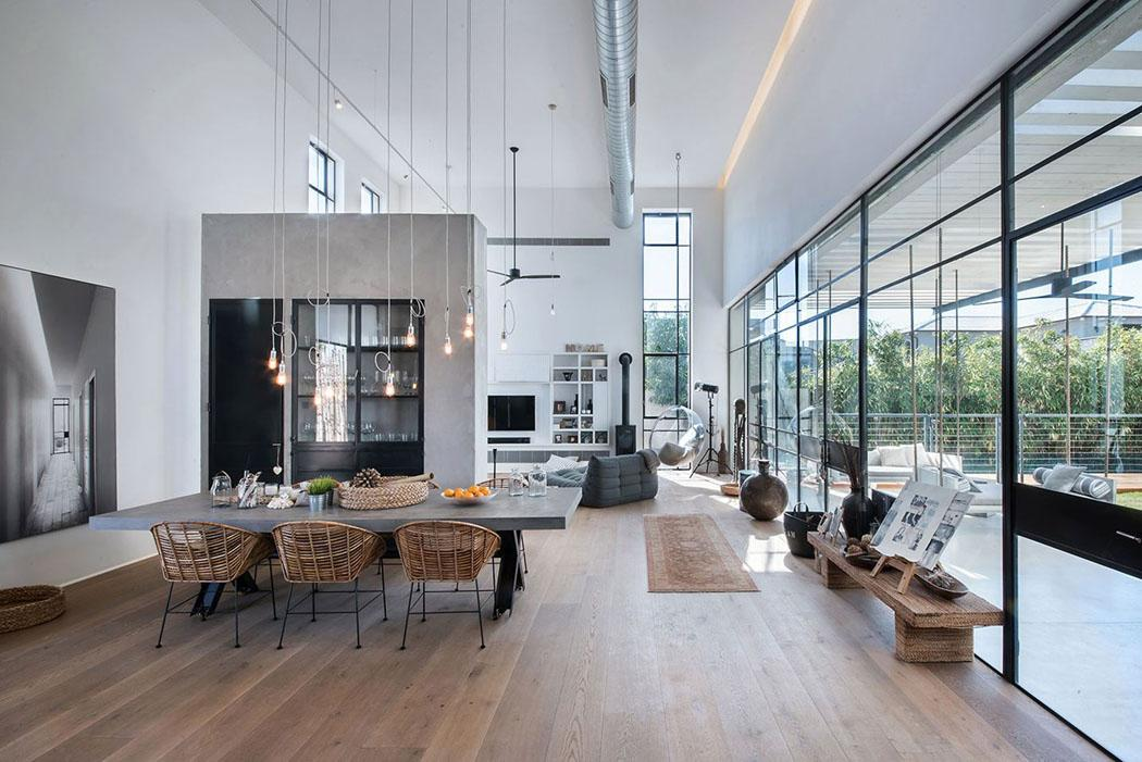 Étapes pour un intérieur de maison de design industriel