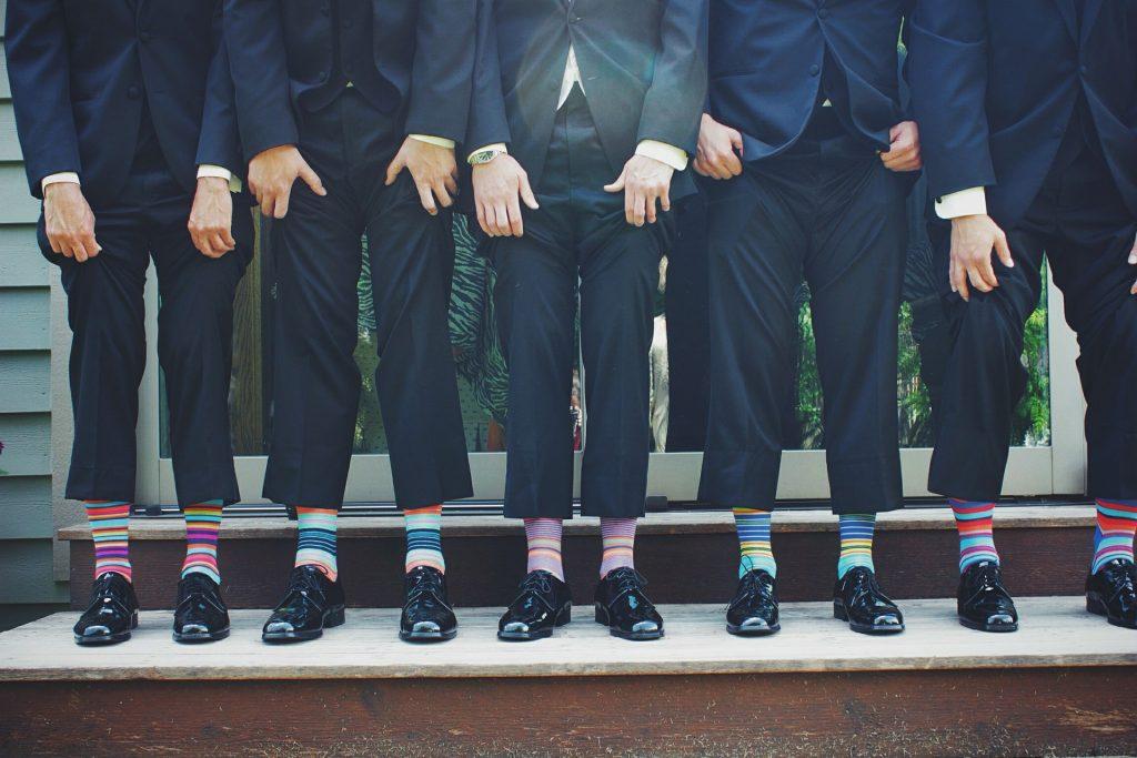 Chaussettes colorées et fantaisies