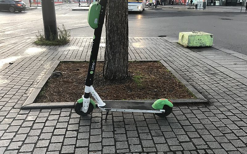 Trotinette électrique en libre service à Lyon
