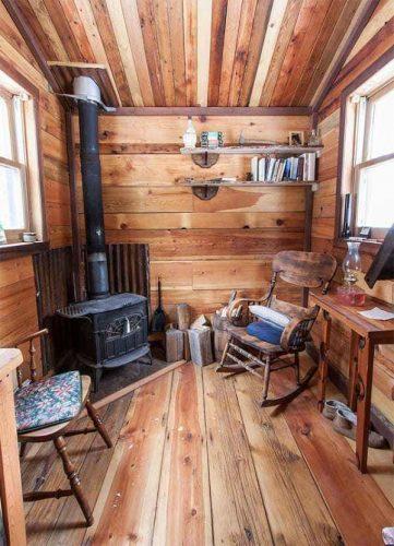 cabane en bois chaleureuse